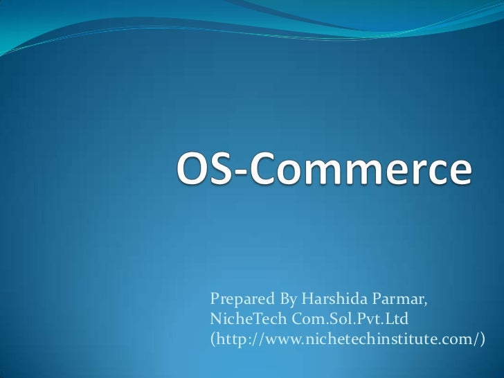 Introduction of Oscommerce , PHP Course Ahmedabad ,  PHP Training Ahmedabad