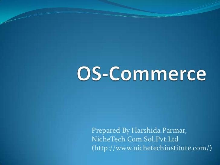 Prepared By Harshida Parmar,NicheTech Com.Sol.Pvt.Ltd(http://www.nichetechinstitute.com/)