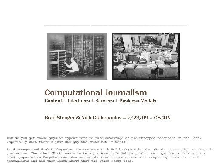 Oscon Presentation.Computational Journalism