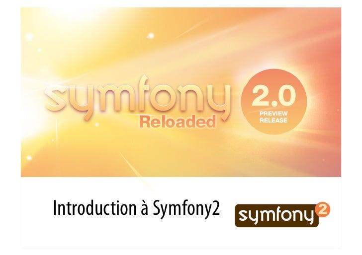 Introduction à Symfony2