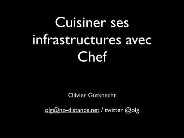 Cuisiner ses infrastructures avec Chef