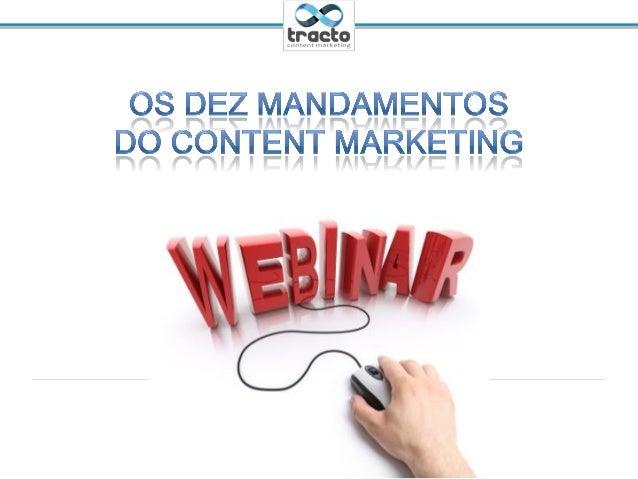 Os Dez Mandamentos do Content Marketing