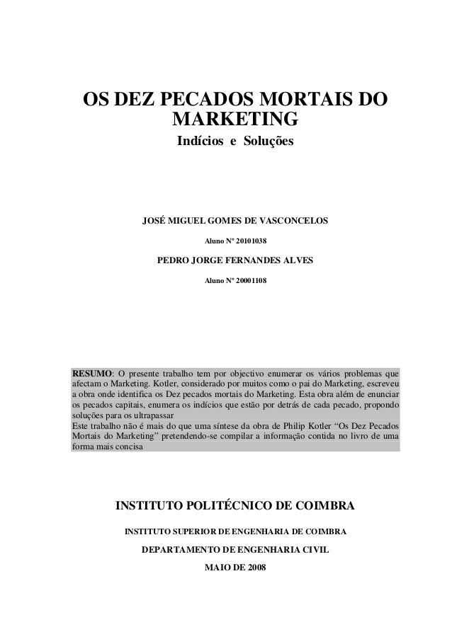Os dez pecados mortais do marketing
