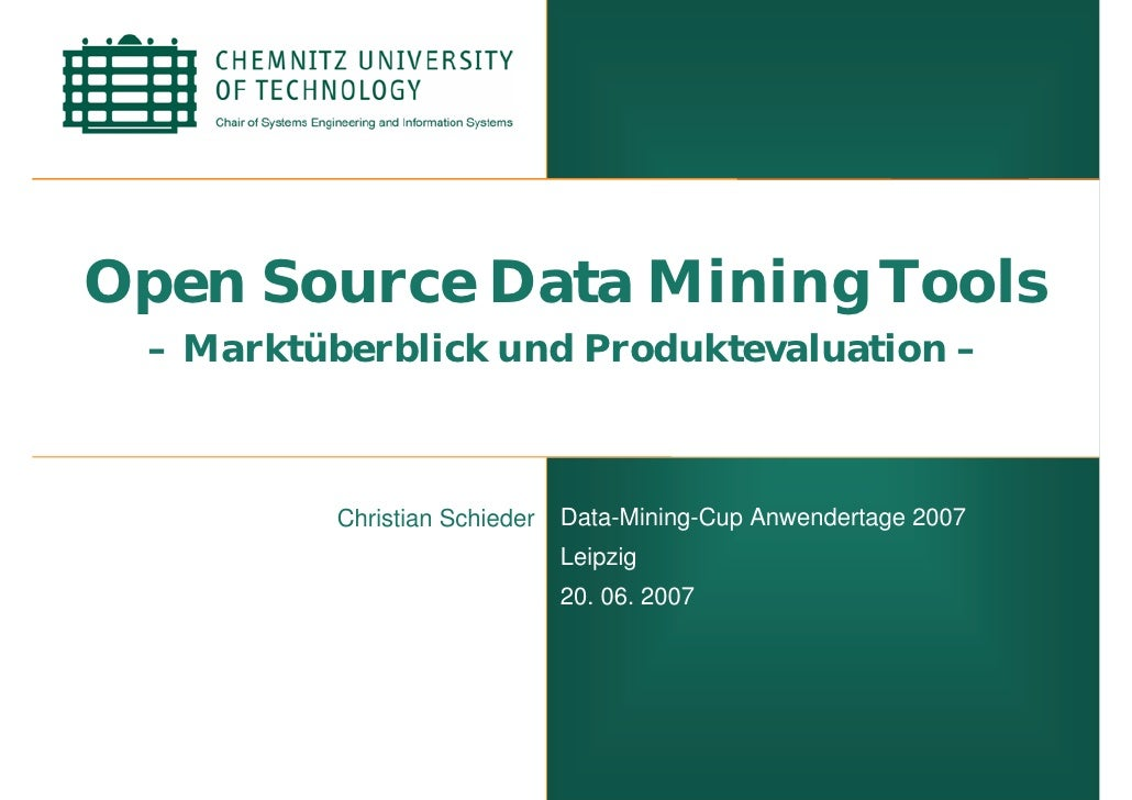 Open Source Data Mining - Data Mining Cup 2007