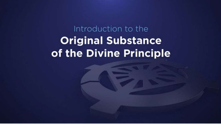 Original Substance of Divine Principle 1