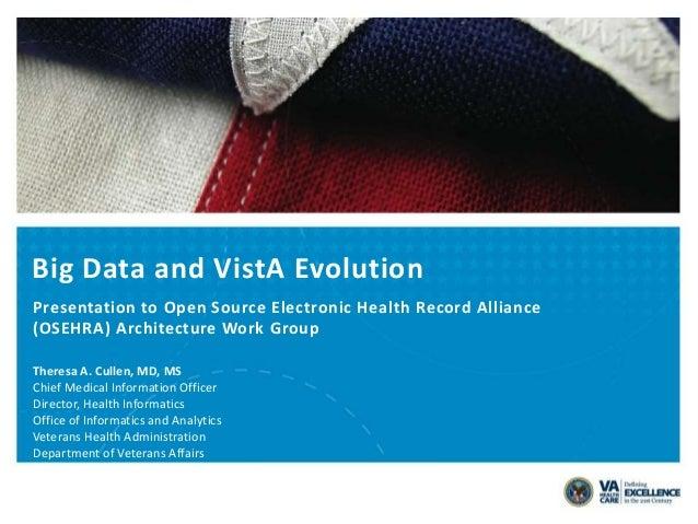 Big Data and VistA Evolution, Theresa A. Cullen, MD, MS