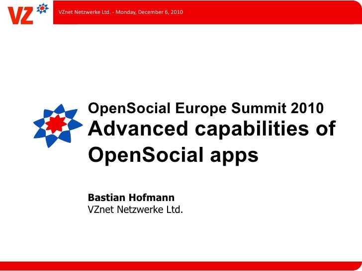 Advanced Capabilities of OpenSocial Apps