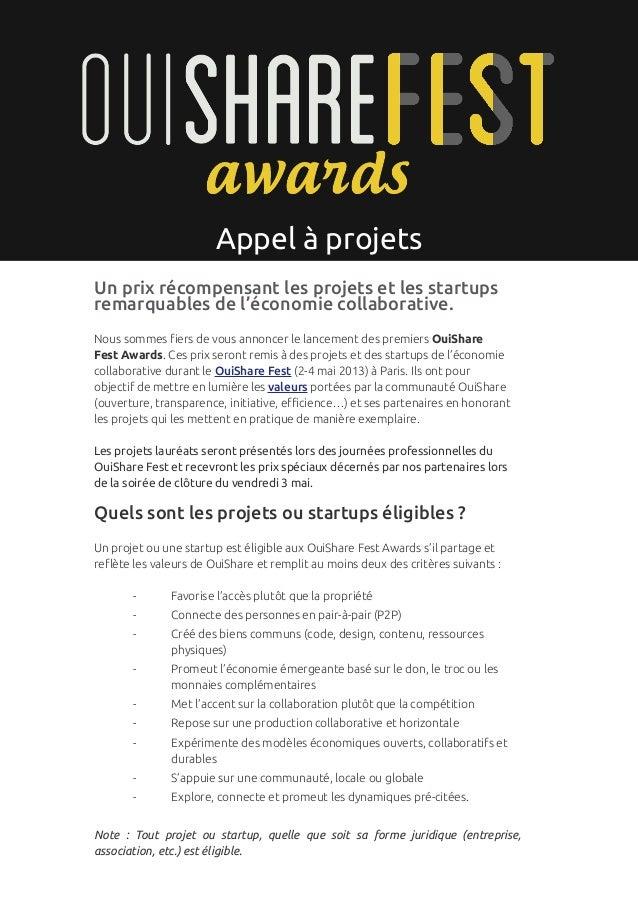 p. 1                       Appel à projetsUn prix récompensant les projets et les startupsremarquables de l'économie colla...