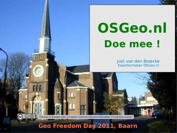 OSGeo.nl - Introductie - Geo Freedom Day