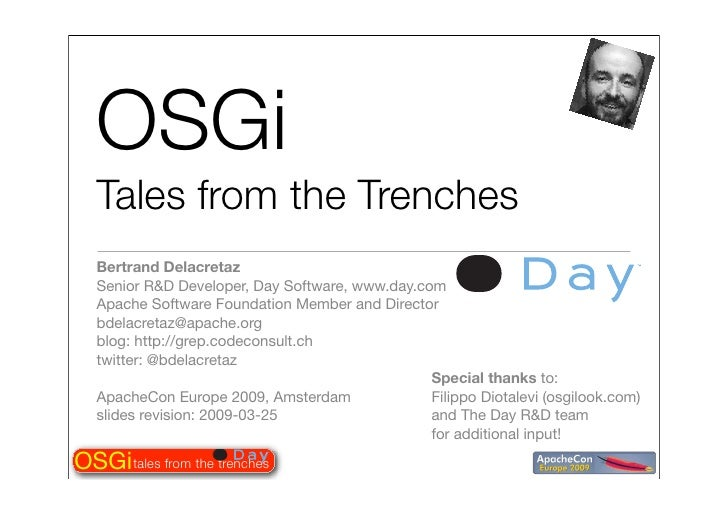 Tales from the OSGi trenches