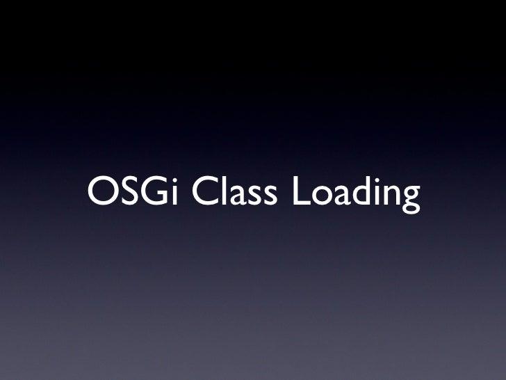 OSGi Class Loading