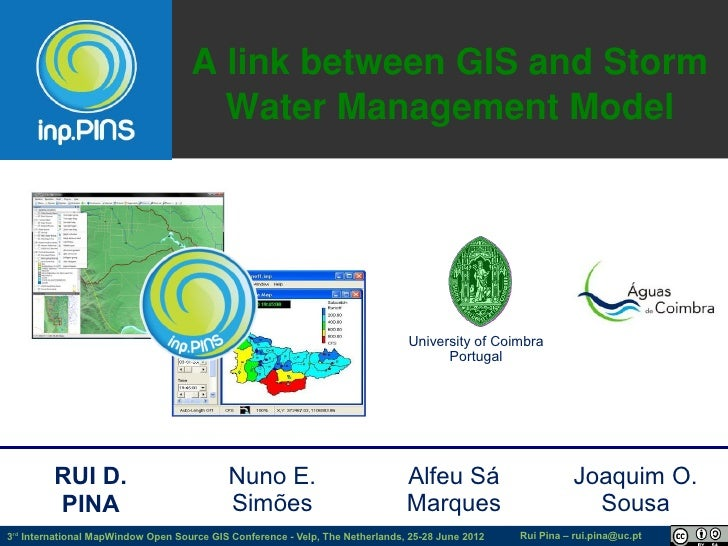 A link between GIS and Storm                                      Water Management Model                                  ...