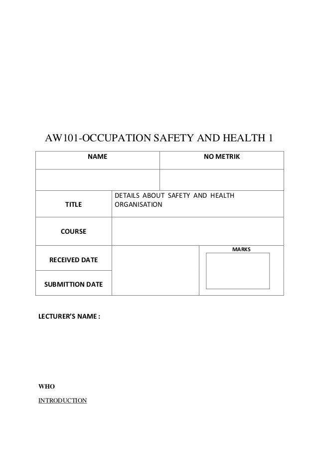 AW101-OCCUPATION SAFETY AND HEALTH 1               NAME                          NO METRIK                      DETAILS AB...
