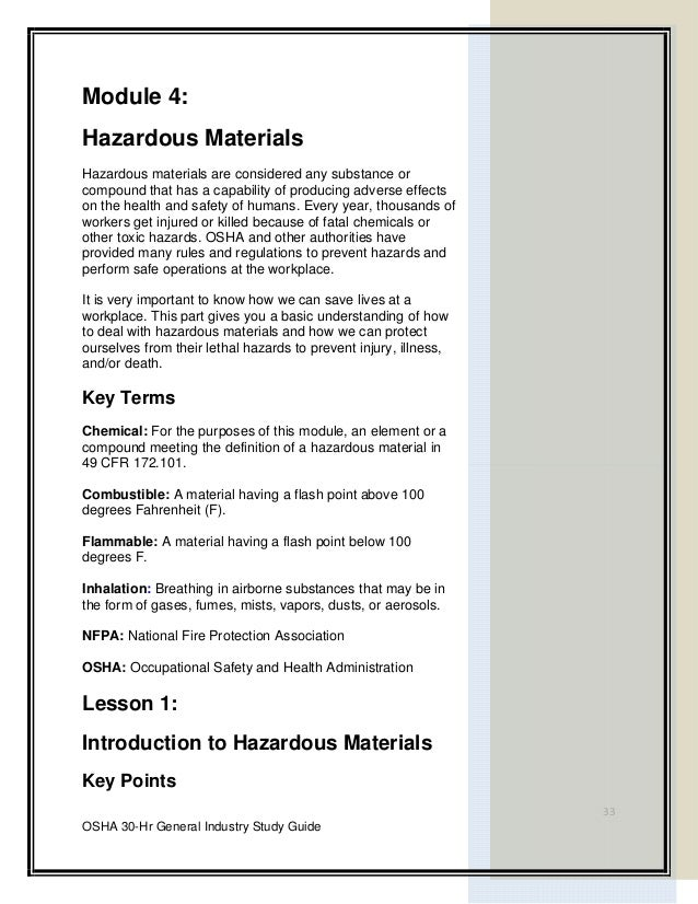 Hazardous Materials Awareness: Self-Study Guide