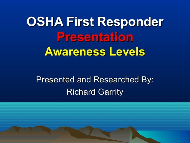 OSHA Basic Training & Awareness- 01-20-2005