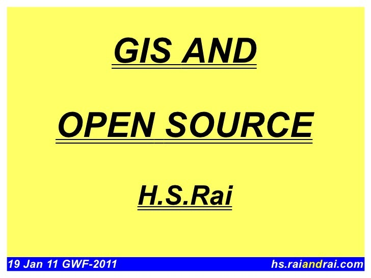 GIS and Open Source