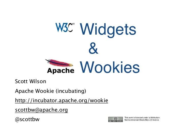 Open Source Junction: Apache Wookie and W3C Widgets