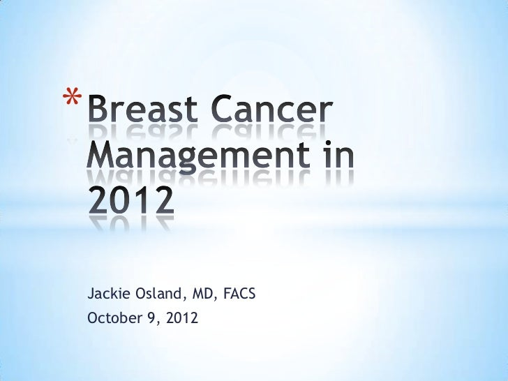 Via Christi Women's Connection: Breast Cancer Management in 2012