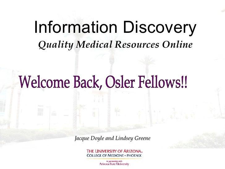 Osler 2009 Newest Qual Med Resources Jdd