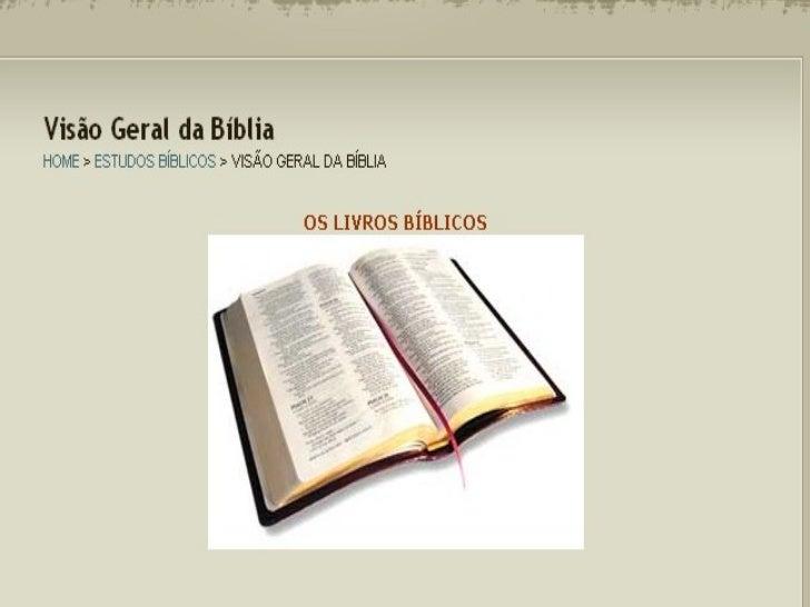 Os livros da biblia
