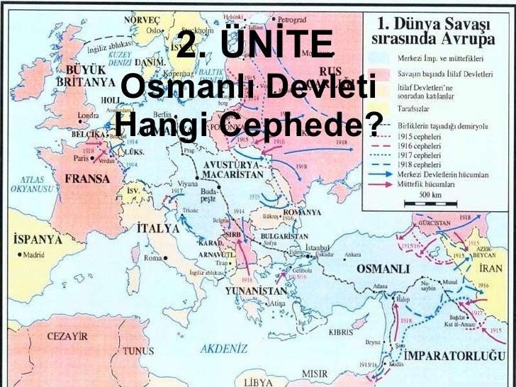 2. ÜNİTE Osmanlı Devleti Hangi Cephede?