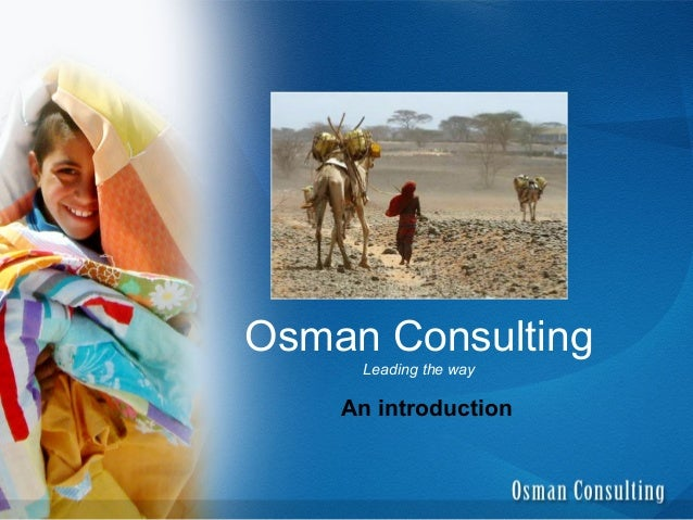 Osman Consulting Intro Prez General