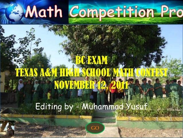 Problem 1                              HOME   EXITProblem 2Problem 3Problem 4Problem 5                  BC EXAM     TEXAS ...