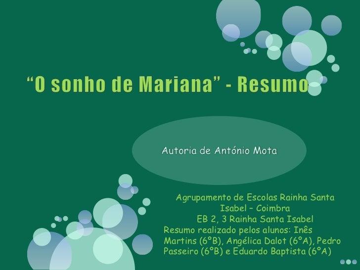 Agrupamento de Escolas Rainha Santa              Isabel – Coimbra        EB 2, 3 Rainha Santa IsabelResumo realizado pelos...