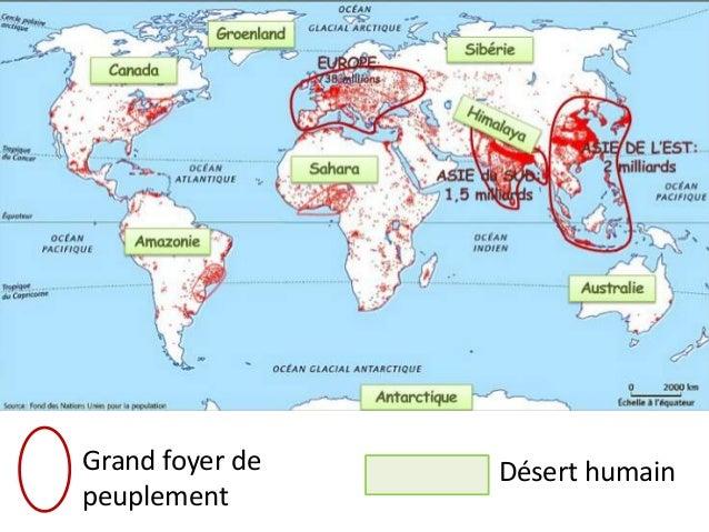 Grand Foyer De Population : Où sont les hommes sur terre