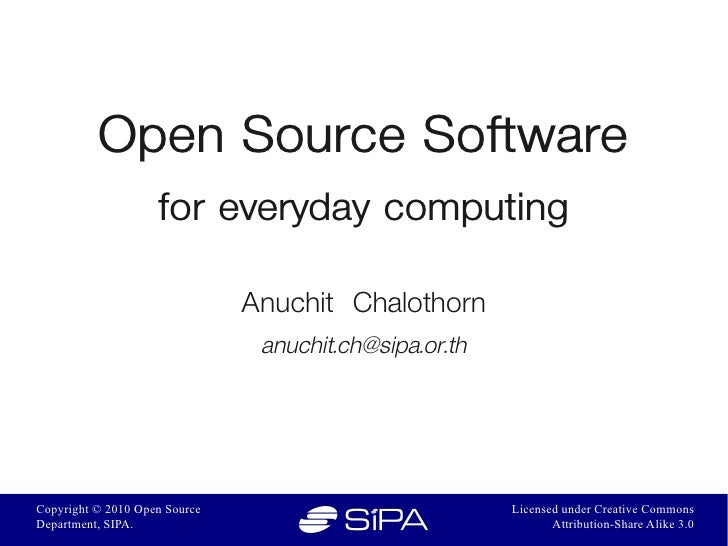 Oss for every day computing