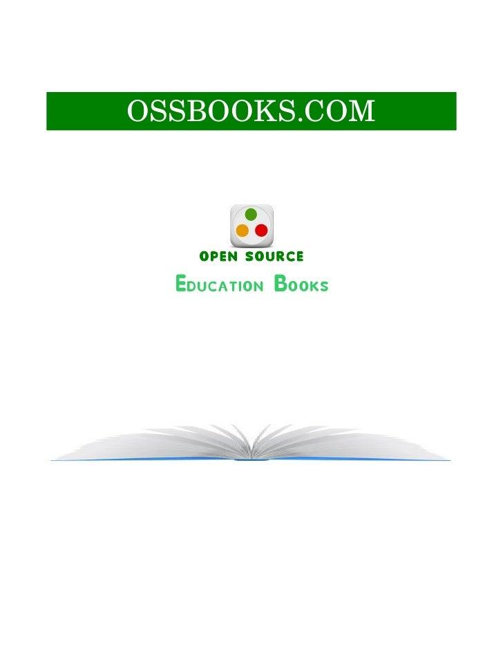 OSSBOOKS.COM        OPEN SOURCE   Education Books