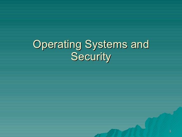 OS Security 2009