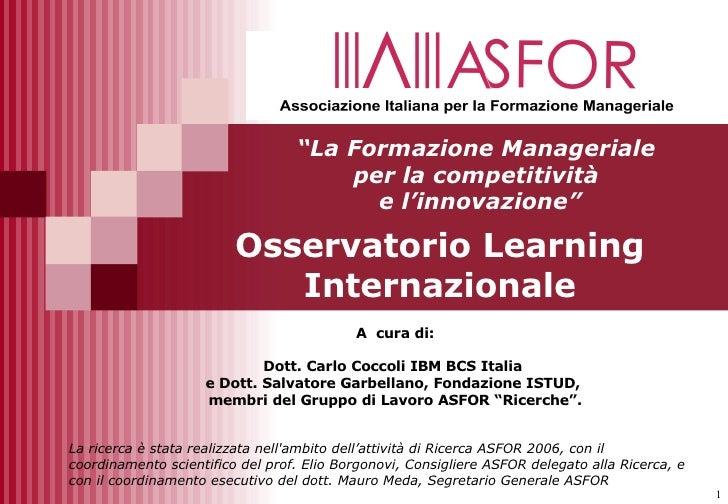 Osservatorio Learning Internazionale 2006