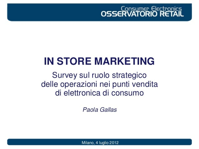 In store marketing