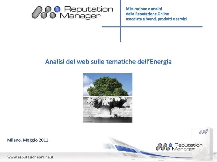 Osservatorio Web Energia 2010-2011