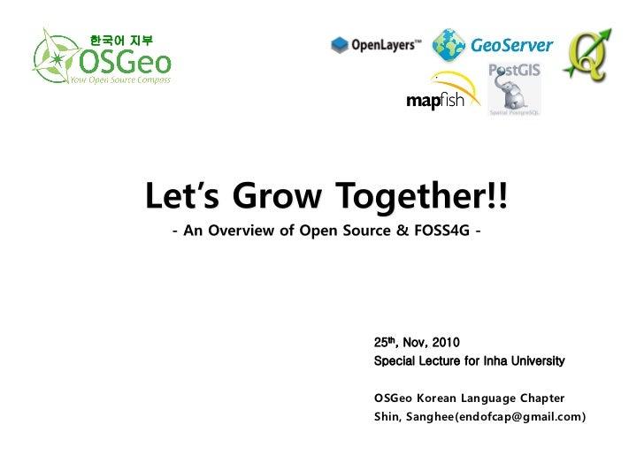 An Overview of Open Source & FOSS4G