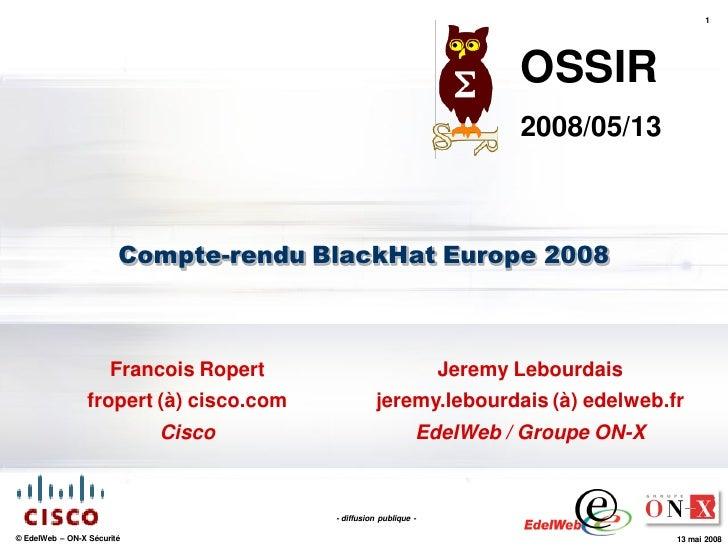 Black Hat Europe 2008