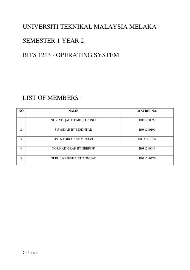 CHAPTER READING TASK OPERATING SYSTEM