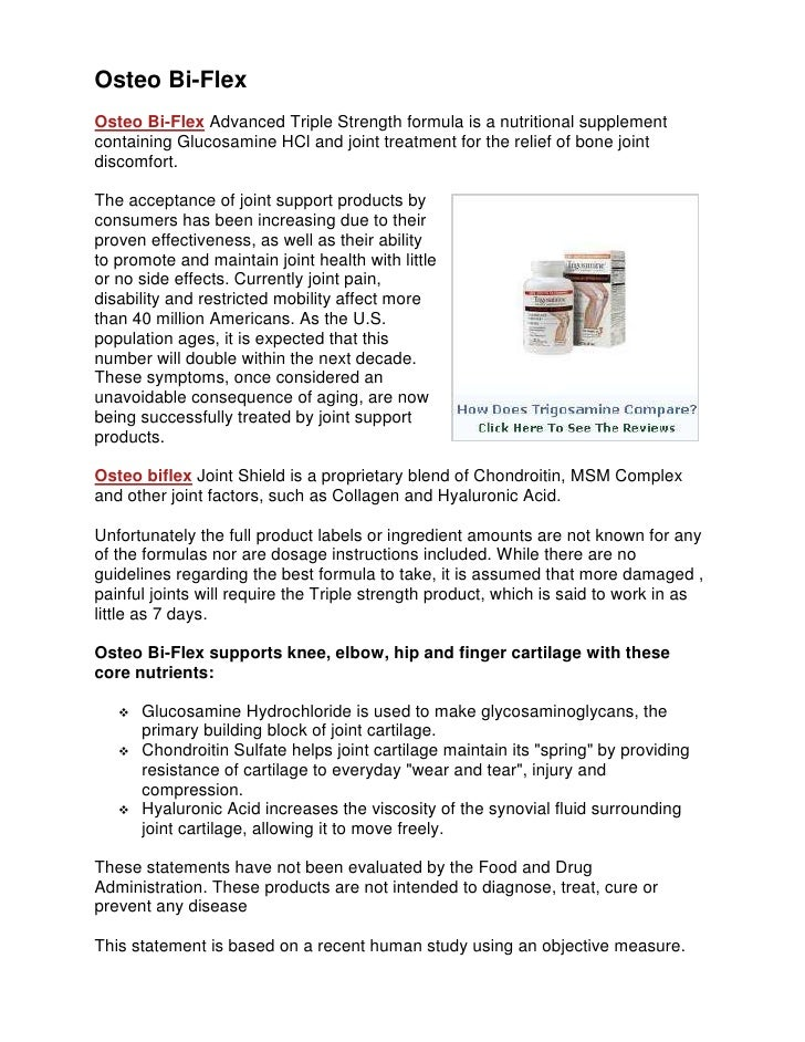 Osteo Bi-Flex<br />3448050788035Osteo Bi-Flex Advanced Triple Strength formula is a nutritional supplement containing Gluc...