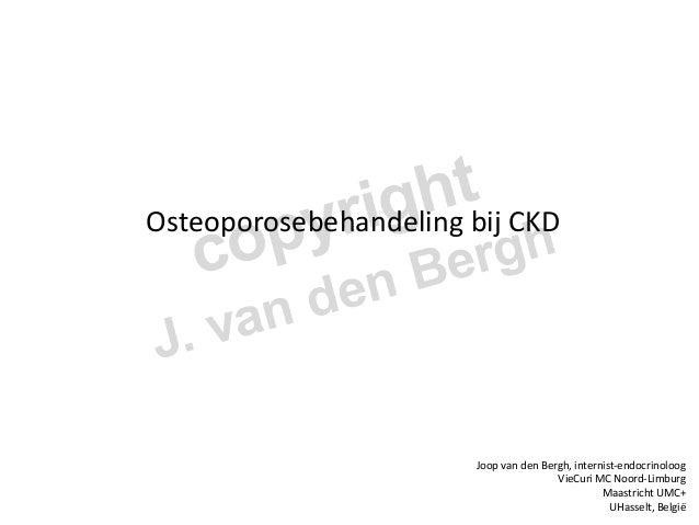 Osteoporosebehandeling  bij  CKD           Joop  van  den  Bergh,  internist-‐endocrinoloog  ...