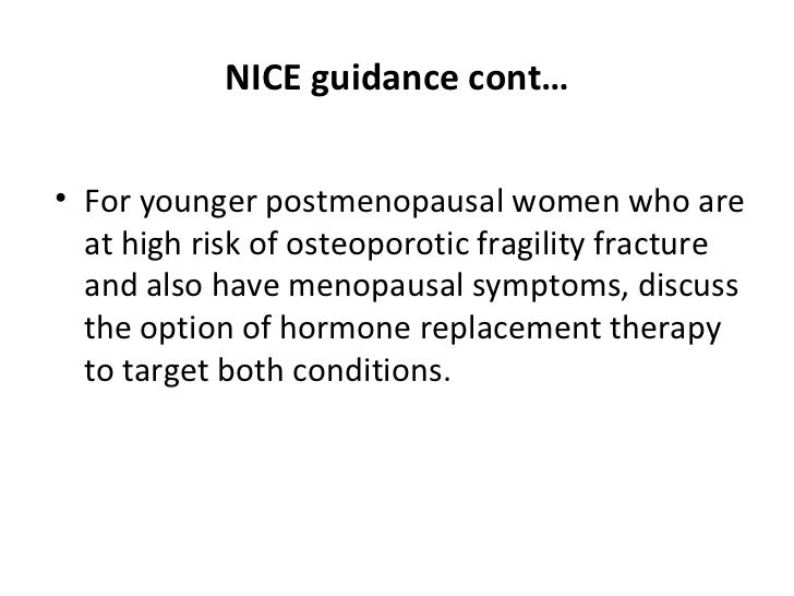 Nice guidelines hrt
