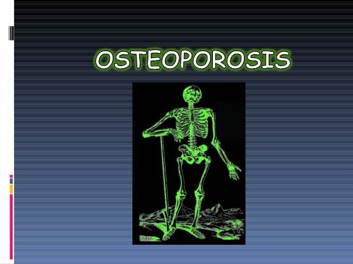 Osteoprosis terapeutica