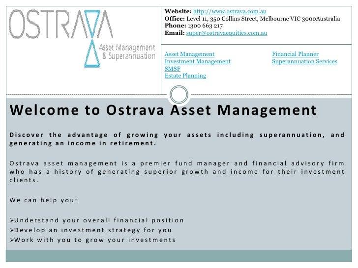 Website: http://www.ostrava.com.au                                                                   Office: Level 11, 350...