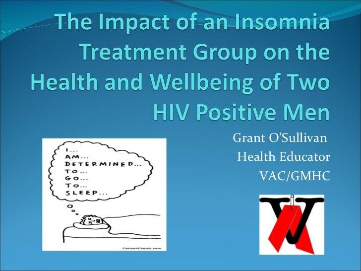 Grant O'Sullivan  Health Educator VAC/GMHC