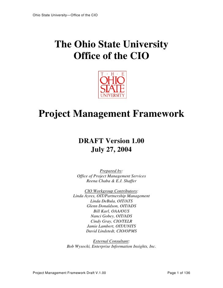 Ohio State University—Office of the CIO             The Ohio State University                 Office of the CIO   Project ...