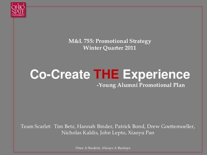 Osu promotions presentation