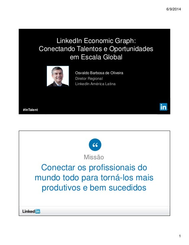 6/9/2014 1 ©2013 LinkedIn Corporation. All Rights Reserved. Osvaldo Barbosa de Oliveira Diretor Regional LinkedIn América ...