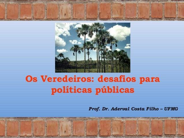 Os Veredeiros: desafios para políticas públicas