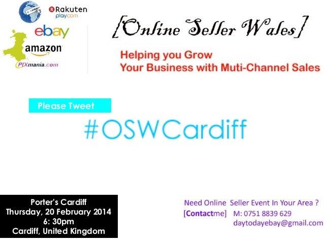 OSWCardiff - Selling Internationally with eBay and Amazon