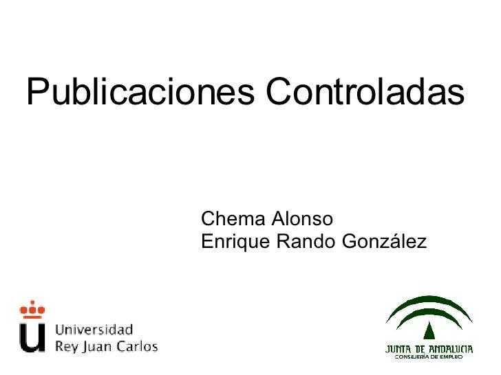 Publicaciones controladas
